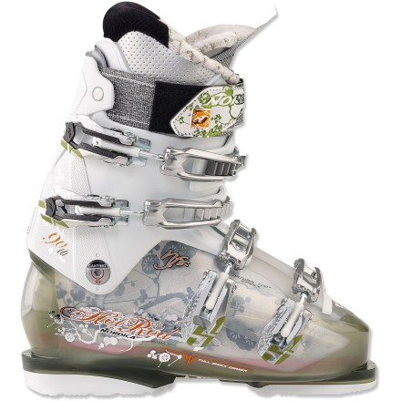 Ski The women's Nordica Hot Rod 9.0 ski boots let you enjoy run after run all over the mountain thanks to their versatile design and soft cushioning. - $179.83