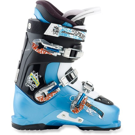 Ski The juniors' Nordica Ace of Spades Team ski boots offers the shock-absorbent comfort of adult boots in a size that's perfect for up-and-coming shredders. - $99.83