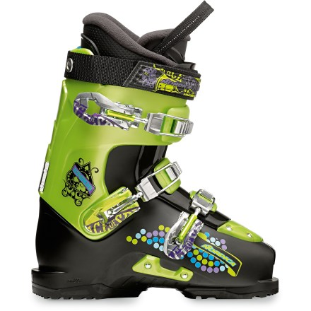 Ski Perfect for up-and-coming freestylers, the Nordica Ace of Spades Team ski boots offers the shock-absorbent comfort of adult boots in a smaller size. - $98.83
