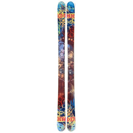 Ski With dimensions suited to young skiers, the Nordica Ace of Spades Jr. skis offer the pop and stability of adult freestyle models. - $119.83