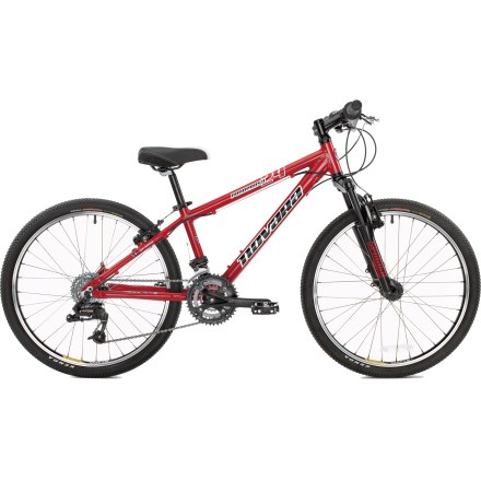 MTB This rugged Novara Ponderosa 24 in. mountain bike lets kids and smaller adults ride singletrack with an appropriately sized frame. - $383.83