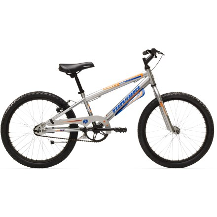 MTB The Novara Duster 20 in. single-speed is made for kids who are ready to toss the training wheels. Single-speed pedaling and hand-operated rear brake keep things simple; mudguards help keep it tidy. - $97.83
