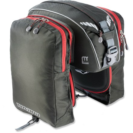 Fitness Now you see them, now you don't-the Novara Gotham Rack Trunk features panniers that quickly fold up and stow away when not in use. - $25.93