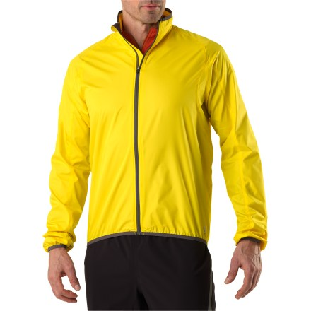 Fitness So light and compact, you'll forget you're carrying the men's Novara Stowable Bike Jacket until you need it to fend off wind chill or light rain. - $28.83