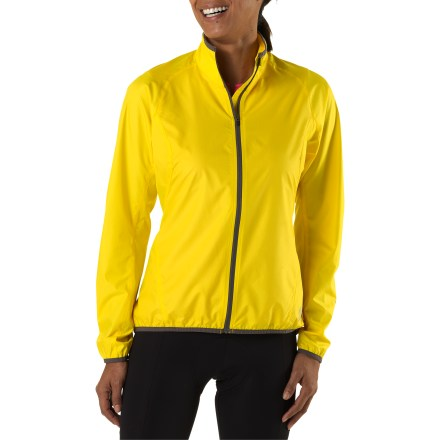 Fitness So light and compact, you'll forget you're carrying the women's Novara Stowable Bike Jacket until you need it to fend off wind chill or light rain. - $28.83