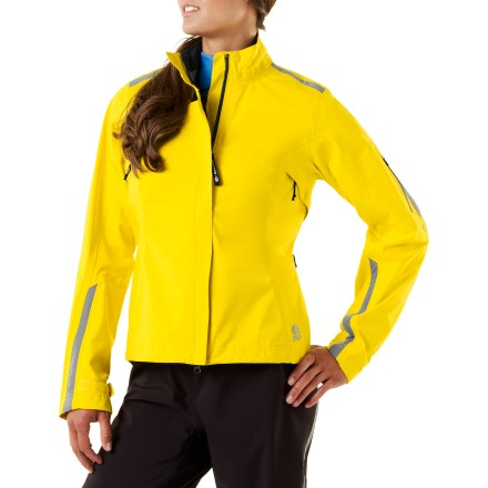 Fitness The Novara Stratos 2.0 bike jacket for women proves that no weather is too foul to keep you from your ride. Bring on the rain! 3-layer polyurethane-laminated nylon is waterproof, breathable and windproof up to 60mph; seams are taped for durable protection. 2-way stretch fabric and articulated elbows provide a full range of movement without binding or twisting. Rear droptail hem provides extra protection in the riding position. Underarm pit zips and front zipper allow ventilation; these 2-way zippers are protected by stormflaps. External chest pocket and 2 back pockets with water-resistant zippers keep your essentials secure and dry. Drawcord hem and adjustable cuffs with rip-and-stick tabs keep wind and rain out. Reflective piping and logos on the women's Novara Stratos 2.0 bike jacket increase visibility in low light. - $117.93
