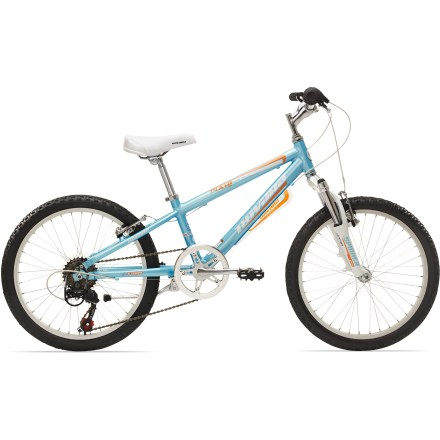 MTB Made for kids who've left the training wheels in the dust, the Novara Pixie 20 in. 6-speed has components similar to adult mountain bikes. This bike lets eager kids set the pace on your family rides. - $147.83