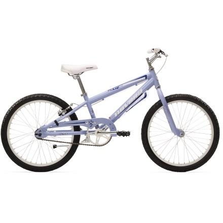 MTB The Novara Pixie 20 in. single-speed is made for kids who are ready to toss the training wheels. Single-speed pedaling and hand-operated rear brake keep things simple; mudguards help keep it tidy. - $97.83