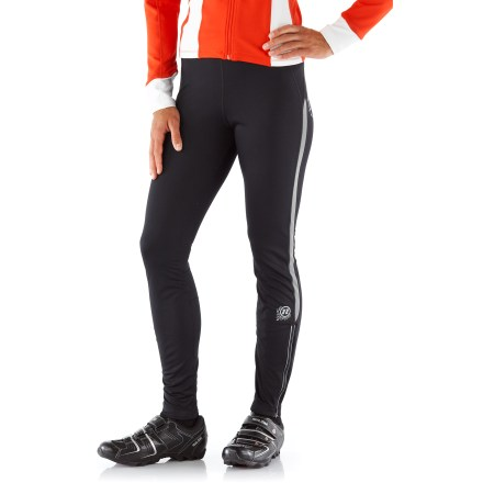Fitness For high-energy riding in cold weather, the women's Novara Tempest bike tights keep the wind and wet out, so you can go long and stay comfortable. - $38.83
