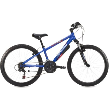 MTB Our tough, trail-taming Novara Tractor 24 in. bike offers eager riders a 21-speed drivetrain and a suspension fork to ensure they're ready for trails, whoop-de-dos and more. - $238.93