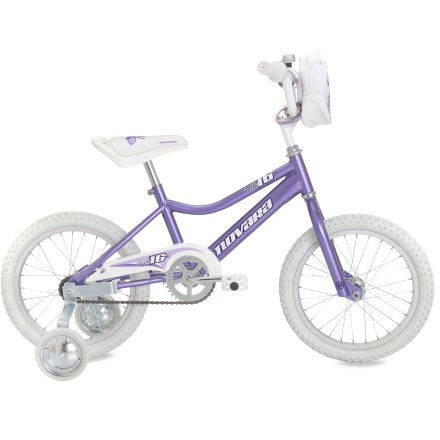 Fitness Novara Firefly 16 in. girls' bike offers removable training wheels and a sturdy, stylish build that's great for budding riders. - $108.93