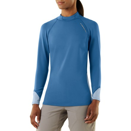 Surf The women's NRS HydroSkin paddling shirt offers warmth and protection during chilly paddles. - $49.83