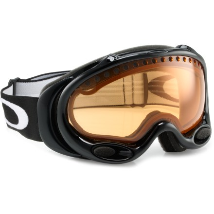 Ski Superior clarity, impact resistance and visual precision are nice, but you gotta ski in cool lookin' goggles. Oakley A-Frame(R) ski goggles offer the performance you like with the style you demand. - $59.93