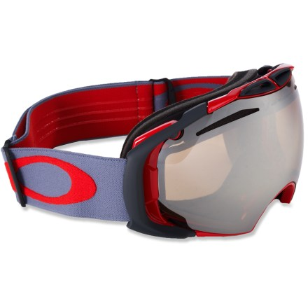 Ski Oakley Prizm Airbrake(TM) snow goggles let you keep up with changing light and weather thanks to an innovative interchangeable lens system. - $179.93