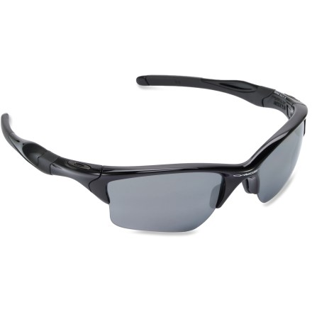 Camp and Hike For increased protection and expanded coverage, Oakley Half Jacket 2.0 XL polarized sunglasses combine cool style and clarity. - $180.00