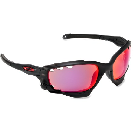 Camp and Hike The latest iteration from Oakley, the Racing Jacket polarized sunglasses are for life in the sunny fast lane. Each frame includes 2 sets of lenses: 1 set for the bright lights, 1 set for after hours. - $280.00