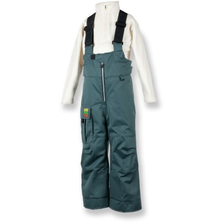 Ski The Obermeyer Volt Suspender pants cover your toddlers in waterproof and breathable warmth to keep them comfortable and dry while on the slopes. Polyester shell with HydroBlock(R) waterproof, breathable coating and sealed seams offers super protection. Smooth nylon taffeta lining slides on easily over layers. Polyester insulation is soft and flexible, combining reliable warmth and nonbinding freedom of movement. Elastic waist with adjustable tabs and suspenders creates a comfortable, secure fit; reinforced, articulated knees offer ease of movement and durability. I-Grow(TM) design lets you lengthen cuffs up to 2 in. as child grows. Obermeyer Volt Suspender pants feature water-resistant powder cuffs with gripping elastic bottoms that help keep snow and grit out. - $61.93