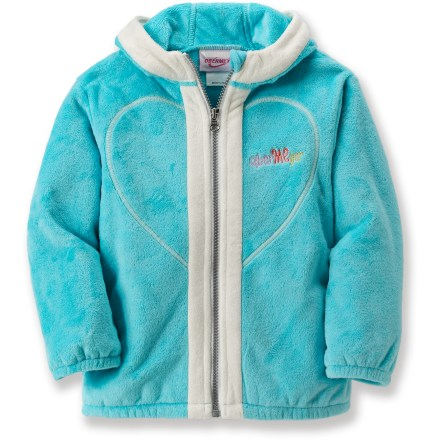 Bound to capture her heart, the Obermeyer Yummy Zip Fleece jacket surrounds your child in the sumptuous softness of fleece. Warm, breathable fleece dries quickly, insulates even when wet and is easy to care for. Elastic hem and cuffs help lock in warmth. Fleece-trimmed hood shields child from cold air. Tricot-lined hand pockets. Closeout. - $19.73