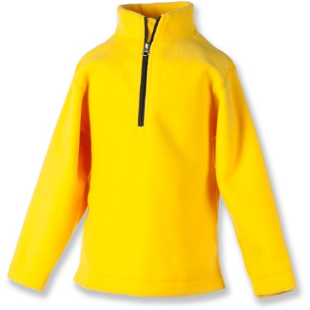Cozy as can be, the kids' Obermeyer UG 100 Micro Zip top is made of soft, warm microfleece. Non-pilling microfleece has a lightly brushed surface that retains body heat. Partial zipper allows venting as needed. Closeout. - $19.93
