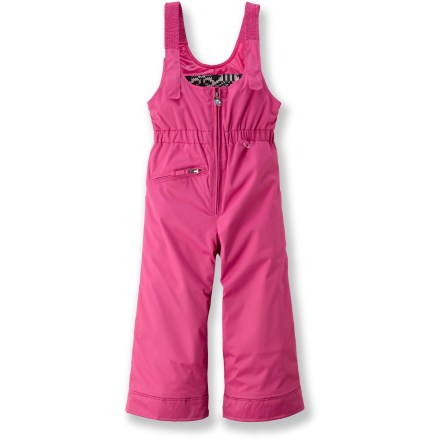 Snowboard The Obermeyer Snoverall bib pants cuddle toddlers in cuteness and waterproof warmth to keep them stylin' and dry on the slopes. - $20.83