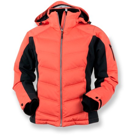 Ski The Obermeyer Circuit down jacket spruces up your winter wardrobe and delivers the ultimate in plush, warm comfort. - $61.83