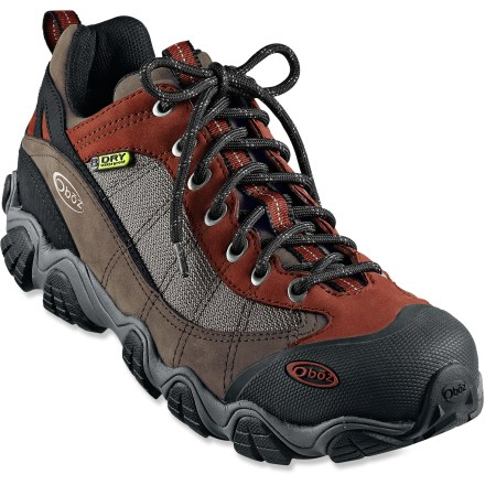 Camp and Hike Rugged and waterproof, the Oboz Firebrand II hiking shoes offer versatile multisport performance and a supportive fit for comfort mile after mile. - $140.00