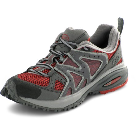 Fitness Make quick work of trails in the Oboz Flash women's trail-running shoes, thanks to flashy looks and reliable traction. - $38.73