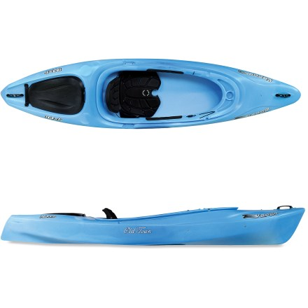Kayak and Canoe The Old Town Vapor 10XT kayak takes the sporty features of the Vapor series 1 step further with an electronics-friendly space and a cover for the stern day well. - $466.93