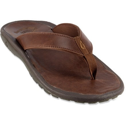 Entertainment Set to enjoy the warmer days in style? The OluKai 'Ohana Leather flip-flops feature distinct leather construction and anatomic support to ensure your comfort. - $41.83