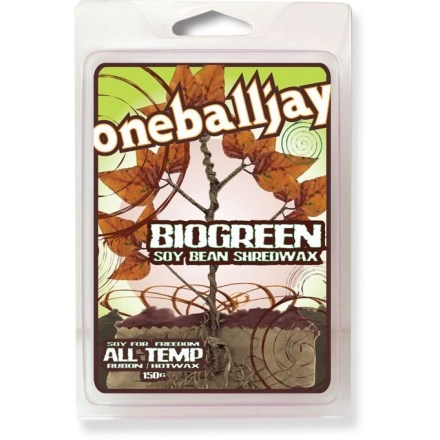 Snowboard Make your ride glide with this new all-temperature wax from One Ball Jay that's soy based, eco- friendly and easy to apply! Packaging is made from cornstarch, not plastic. - $4.83