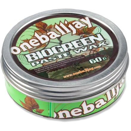 Snowboard Bio-Green Paste snowboard wax from One Ball Jay is an all-temperature, easy-to-apply natural paste wax. Makes your board ride amazingly fast, especially in wet snow. - $5.83