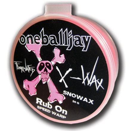 Snowboard The easy to apply all-temperature One Ball Jay X-Wax Rub-On wax is perfect for parking lot wax jobs. - $7.93