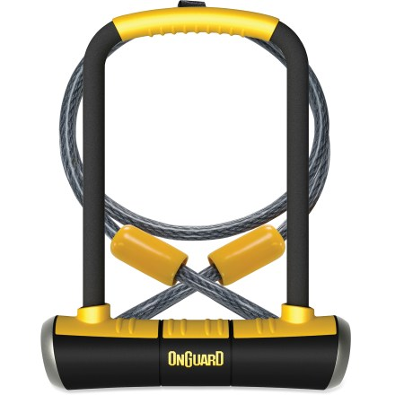 Fitness OnGuard PitBull DT U-lock is paired with a 4 ft. cable to not only provide excellent locking security, but plenty of locking versatility as well. - $38.93