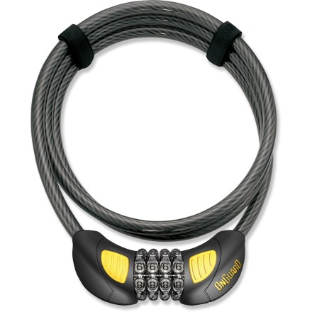 Fitness The OnGuard Terrier Combination 4 cable lock provides light security for bicycles, helmets and more, and has a convenient, glove-friendly resettable combination lock. - $14.95
