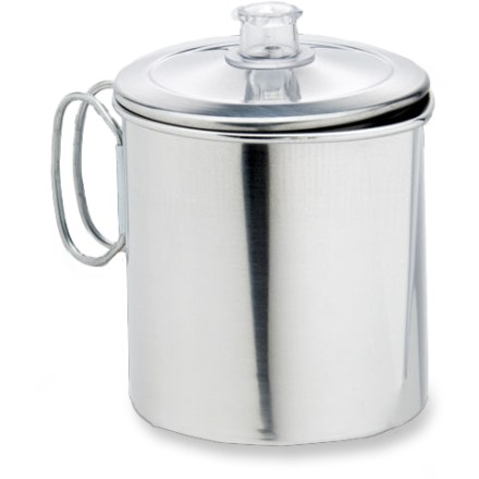 Camp and Hike This durable aluminum Open Country 2 - 5 cup coffee perk stands up to the rigors of outdoor use. - $14.93
