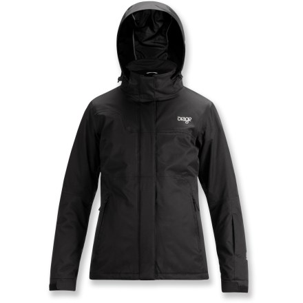 Snowboard The Orage Moraine insulated jacket features an urban cut for comfortable shredding the park. - $188.73