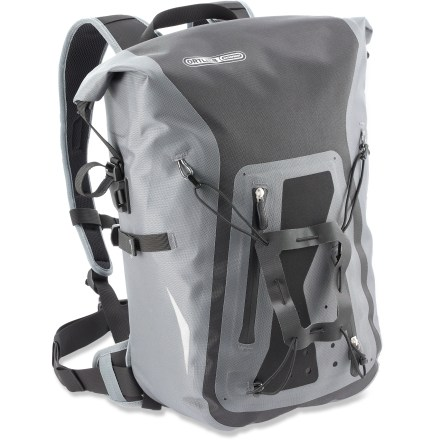 Fitness Ortlieb Packman Pro 2 cycling backpack delivers stout protection from the elements thanks to its waterproof fabric and roll-top closure, making it great for commuting and more. - $74.93