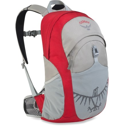 Camp and Hike The Osprey Jet daypack for kids incorporates legendary Osprey technical design and quality into an everyday pack that bridges the gap between hauling school books and after-school play. - $24.93