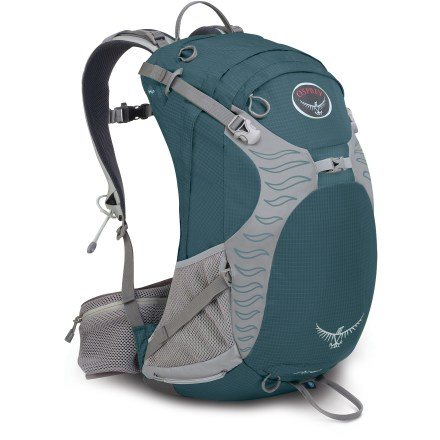 Camp and Hike The Osprey Sirrus 24 pack offers women a customized fit and impressive ventilation for all-day comfort on day hikes, rides and peak-bagging attempts. - $48.93