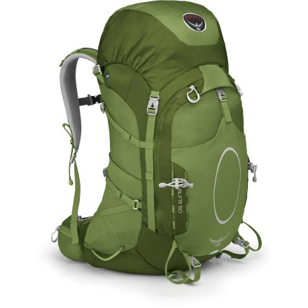 Camp and Hike The women's Osprey Aura 50 Pack redefines expectations for weight, ventilation and comfort. An updated suspension provides a customized fit for greater comfort than ever on the trail. - $156.93