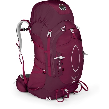 Camp and Hike The Osprey Aura 65 pack for women redefines expectations for weight, ventilation and comfort. An updated suspension provides a customized fit for greater comfort than ever on the trail. - $124.93