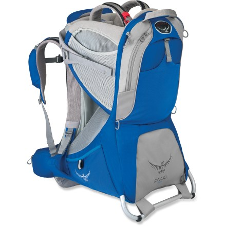 Camp and Hike Incorporating the Osprey reputation for cutting-edge pack technology and design, this full-featured child carrier sports a built-in sun shade and plenty of pocket space for essential gear. - $129.93