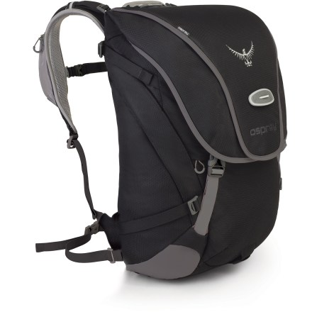 Fitness Osprey Metron 35 commuter pack is loaded with convenient features to ensure your to- and from-work rides are a comfortable and well-organized experience when it comes to toting your daily wares. Main compartment features a padded laptop compartment to help protect your computer (accepts most laptops up to 15 in.). Dedicated U-lock pocket, side zip pocket, top slash pocket, and front panel pocket with organizer panel make organizing and accessing your stuff an easy endeavor. Left shoulder strap features a large, zippered pocket for stashing a cell phone or media player; right shoulder strap has a zippered pocket with retractable key clip. Quickly attach a helmet to the pack with the LidLock(TM) helmet clip; a bungee on the exterior of the pack allows easy adjustment of the LidLock feature. Integrated and removable high-visibility raincover can be deployed quickly and easily to protect pack's contents in case of inclement weather. Osprey Metron 35 commuter pack has an attachment point for LED safety light (sold separately). - $118.93