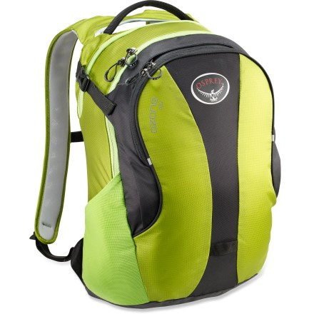 Entertainment The Osprey Ozone Daypack adds protection and organization for all the necessities of travel. It's the perfect travel companion to the Osprey Ozone wheeled luggage, sold separately. - $49.93