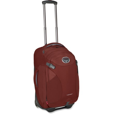 Camp and Hike Wheel this puppy down long airport terminals, and then wear it as a pack when you hit cobblestone streets. A removable daypack on the front gives you even more flexibility. - $171.93