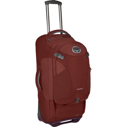 Camp and Hike Wheel this bag through endless airport terminals, and then wear it as a pack when you hit cobblestone streets. A zip-off daypack and pack and removable straps give you even more flexibility. - $186.93