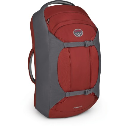 Camp and Hike The ruggedly built Osprey Porter 65 distills the essence of a travel pack into its lightest, cleanest form. It's ideal for travelers who want to keep it simple. - $64.93