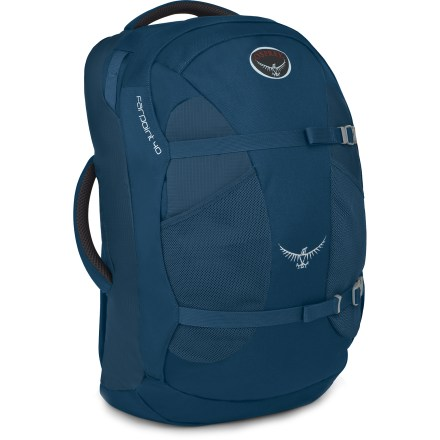 Camp and Hike LIghtweight and streamlined, the Osprey Farpoint 40 travel pack is ideal for fast-moving globetrotters. Despite its minimalist weight, it offers plenty of organization and holds a 15 in. laptop. - $104.93