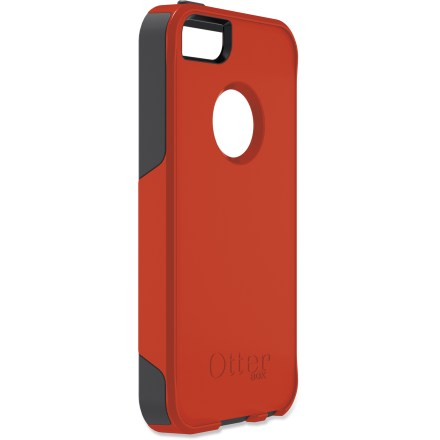 Entertainment The OtterBox iPhone(R) 5 Commuter Series case offers stylish protection for your iPhone 5 while maintaining full access to all buttons and controls. This case offers 2 layers of protection: an interior silicone skin and exterior polycarbonate shell protects your device; also includes a self-adhesive screen protector. Case provides full access to all buttons, ports and functions of your iPhone 5-take a picture, charge your phone or make a call. Plugs cover all the main openings of the device and help to prevent damage from lint, dust and grit. Note: OtterBox iPhone 5 Commuter Series case does not protect against water. - $19.83