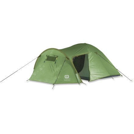Camp and Hike The Lakeside Long 3 tent from Outbound is a great choice for car camping trips with friends. Lakeside 3 offers a dome tent and large front vestibule with canopy; vestibule features windows with roll-up privacy covers. Polyurethane-coated nylon fly features fully taped seams for exceptional weather protection. Heavy-duty coated nylon floor stands up to wear and tear, and features bathtub construction and fully taped seams. No-see-um mesh panels allow cross-ventilation, preventing condensation. High-quality fiberglass poles offer excellent performance at a lower cost than aluminum. Includes stakes, guylines and storage sacks. Overstock. - $65.83